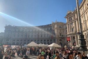 Studenti in piazza a Roma il 27 settembre