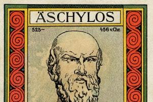 Locandina di una rappresentazione di Eschilo