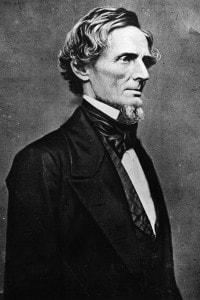 Jefferson Davis, 1865. Primo ed unico presidente degli Stati Confederati d'America
