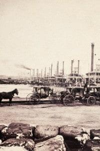 Porto di New Orleans. Esportazione del cotone