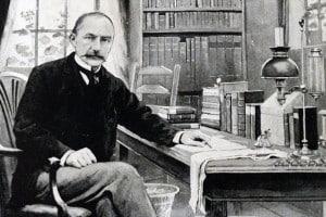 Thomas Hardy nel suo studio al Max Gate, Dorchester