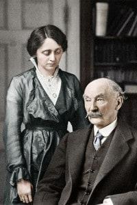 Thomas Hardy e la sua seconda moglie Florence Dugdale