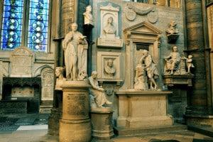 L'angolo dei poeti nell'Abbazia di Westminster