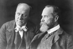 Henry James (a sinistra) e suo fratello William James