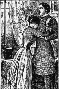 Washington Square, 1880: Morris Townsend e Catherine Sloper in una scena del romanzo di Henry James