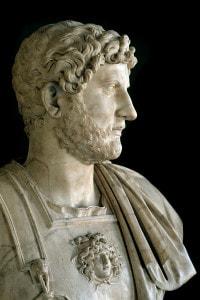 Busto di Adriano (76-138). Galleria degli Uffizi, Firenze