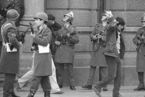 Un'altra immagine del colpo di Stato in Cile nel 1973