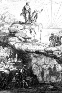 Mito della caverna. Illustrazione antica