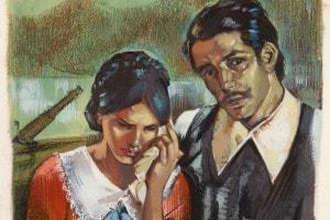 Renzo e Lucia in un'illustrazione de I promessi sposi
