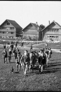Apertura di nuovi edifici nella Fondazione Villaggio dei bambini di Pestalozzi, 1947
