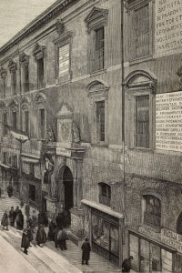 Facciata principale dell'Università di Padova. Qui studiò e si laureò Pomponazzi