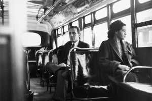 Rosa Parks in autobus a Montgomery