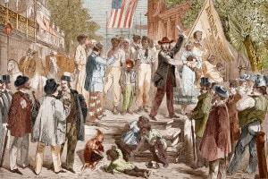 Mercato degli schiavi a Richmond, Virginia 1861