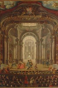 Teatro Regio di Torino, 1752. Collezione di Palazzo Madama, Torino