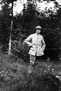 Paul Éluard al 95° reggimento di fanteria, dicembre 1916. Francia