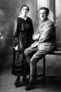 Paul Éluard e sua moglie Gala, febbraio 1917. Francia