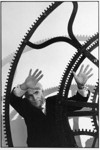 Jean Piaget nella Torre dell'Orologio in Piazza San Marco a Venezia. Febbraio, 1999