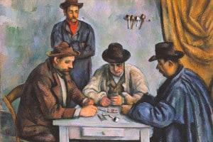 I giocatori di carte di Paul Cézanne, 1890–1892. Olio su tela, 65,4 x 81,9 cm.