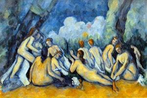 Le grandi bagnanti di Paul Cézanne