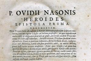 Heroides di Ovidio. Prima Epistola: Lettera da Penelope a Ulisse