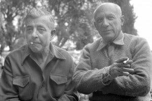 Jacques Prevert e Pablo Picasso, aprile 1951