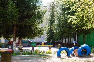 Pneumatici usati nei parchi giochi