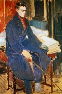 Ritratto di Raymond Radiguet, dipinto di Jacques-Emile Blanche
