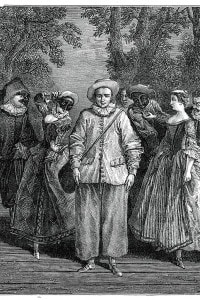 Pierrot e altri personaggi della tradizione teatrale della Commedia dell'Arte