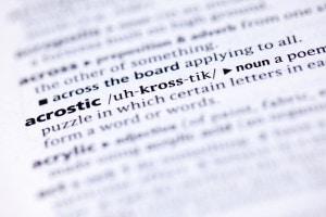 Acrostico: significato ed esempi