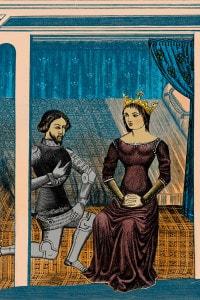 Lancillotto e Ginevra. Chrétien de Troyes: Lancillotto o il cavaliere della carretta