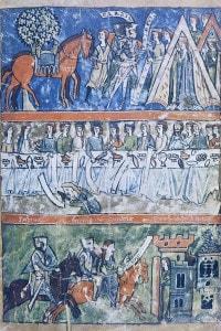Tre scene di vita di un cavaliere di Perceval di Chrétien de Troyes