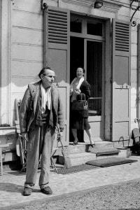 Louis-Ferdinand Celine e sua moglie a Meudon (Francia), 1955