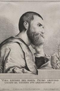 Ritratto di Pietro Aretino, 1649, realizzato da Ottone Hamerani