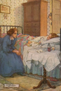 Piccole donne di Louisa May Alcott. Beth malata
