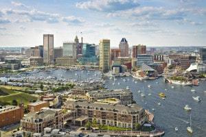 Baltimora: città degli Stati Uniti d'America nello Stato del Maryland