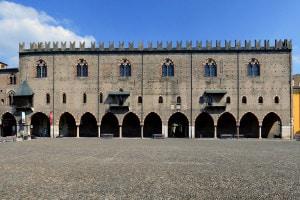 Palazzo Ducale a Mantova. Famosa residenza della famiglia Gonzaga. Piazza Sordello