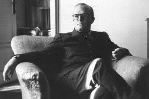 Lo scrittore americano Truman Capote (1924-1984), autore di Colazione da Tiffany