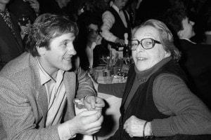 "Gerard Depardieu e Marguerite Duras alla premiere dell'opera teatrale ""La Musica Deuxieme"" a Parigi"