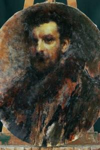Ritratto di Cletto Arrighi: giornalista, politico e scrittore italiano. Dipinto di Cremona