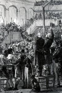 """Club dei Giacobini.  Il """"Jacobin Club"""" era il club politico più famoso e influente nello sviluppo della Rivoluzione francese"""