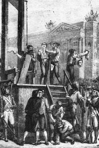Illustrazione dell'esecuzione di Robespierre e dei suoi cospiratori