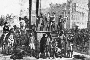 Esecuzione di Robespierre, uno dei pilastri della Rivoluzione francese