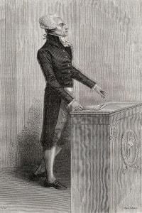 Maximilien Robespierre, 1800. Leader giacobino durante la Rivoluzione francese