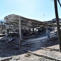 Un'abitazione distrutta