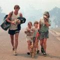 Una famiglia evacuata