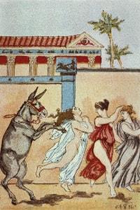 Illustrazione per le Metamorfosi, opera di Apuleio