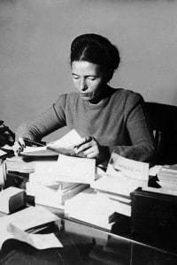 Simone De Beauvoir, 1953