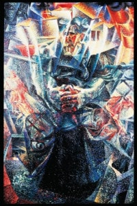 Materia, 1912. Olio su tela di Umberto Boccioni