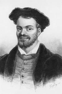 François Rabelais (1483-1553), 1525. Scrittore satirico francese, medico e umanista rinascimentale