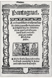 Pantagruel di Rabelais. Frontespizio inciso alla prima bozza, 1532
